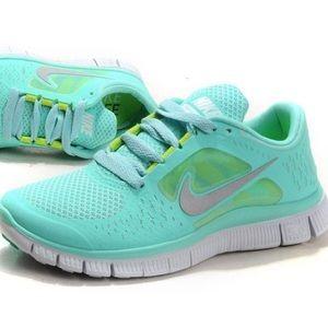 Nike Free Run 5.0 Teal Tiffany Blue Sneakers Shoes